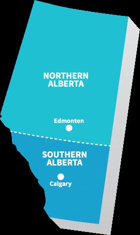 OCYA Alberta Map