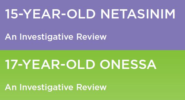Investigative Reviews: Onessa and Netasinim