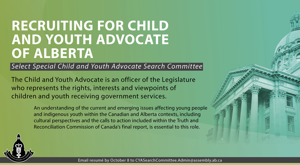 Recruiting for Child and Youth Advocate of Alberta